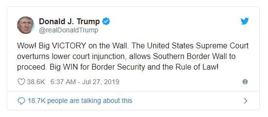 特朗普花25亿建墙 但这只是暂时的胜利
