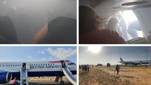 英国客机备降冒浓烟 三名乘客因吸入烟雾已接受治疗