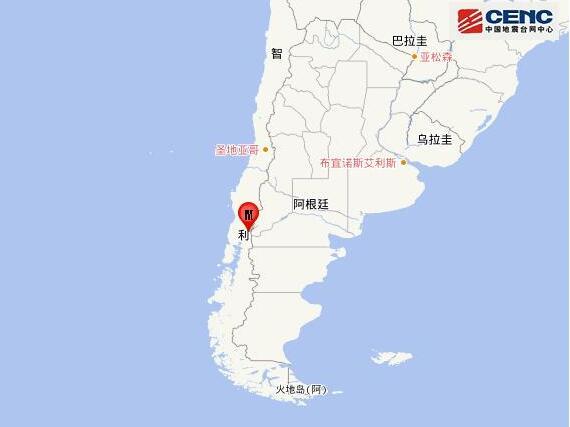 智利发生6.0级地震 9月27日0时36分智利发生6.0级地震
