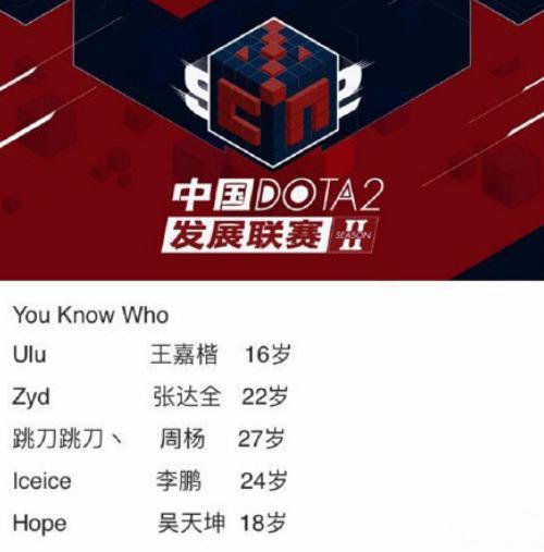"""卢本伟Dota2战队名为""""you know who"""" TI6世界冠军加盟"""