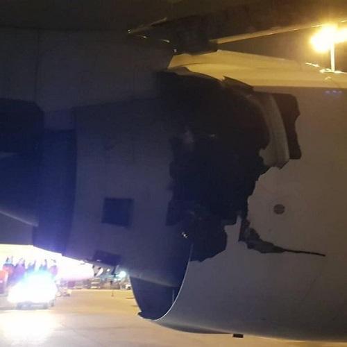 泰航起飞前爆炸声吓到399名乘客 发动机破损严重