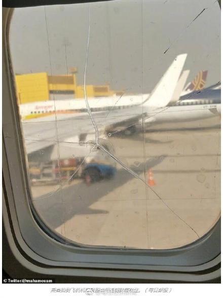 机窗裂粘后继续飞 印度航空注册鹿鼎做法令所有人都大吃一惊